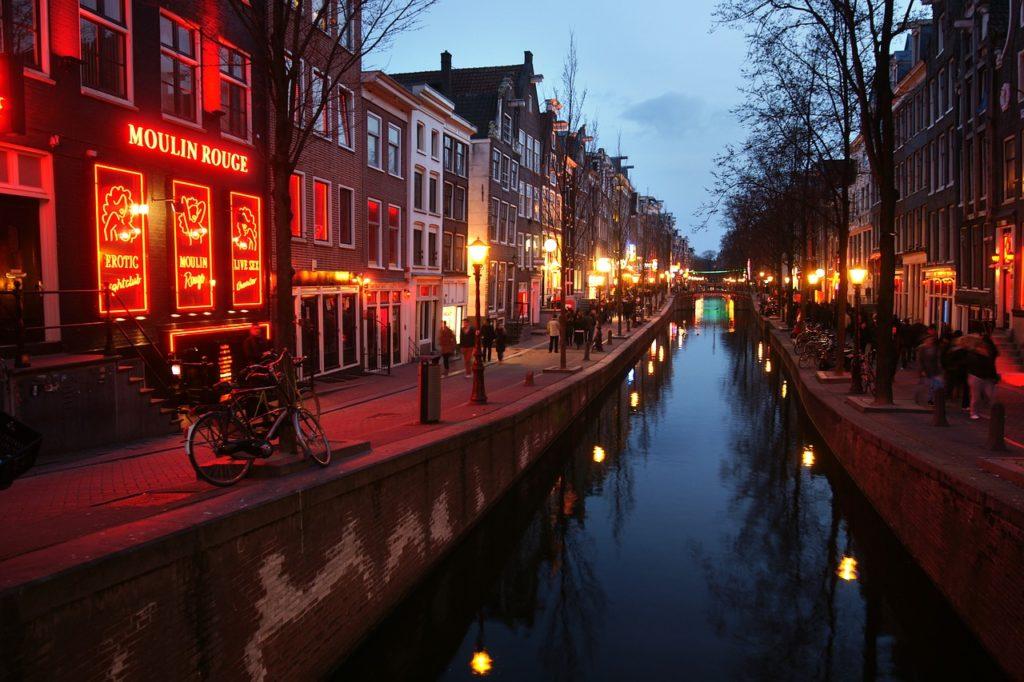 niderlandica, prostytucja, czerwone latarnie